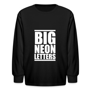Big Neon Letters - Kids' Long Sleeve T-Shirt