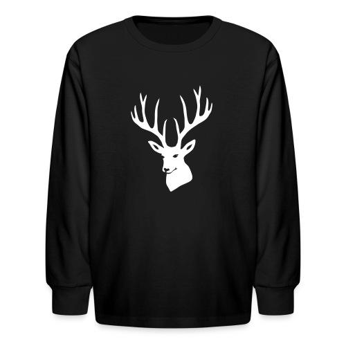 stag night deer buck antler hart cervine elk - Kids' Long Sleeve T-Shirt