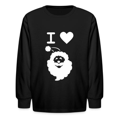 I LOVE SANTA - Kids' Long Sleeve T-Shirt