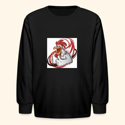 cartoon chicken with a thumbs up 1514989 - Kids' Long Sleeve T-Shirt