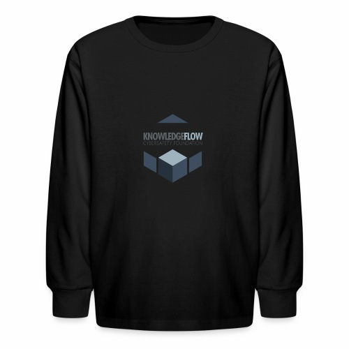 KnowledgeFlow Cybersafety Foundation - Kids' Long Sleeve T-Shirt