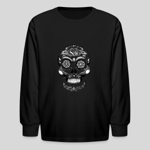 Catrina Black & White - Kids' Long Sleeve T-Shirt
