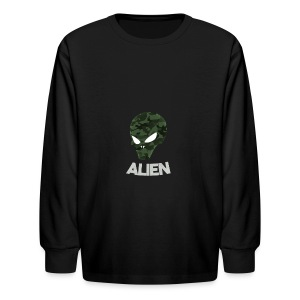 Military Alien - Kids' Long Sleeve T-Shirt