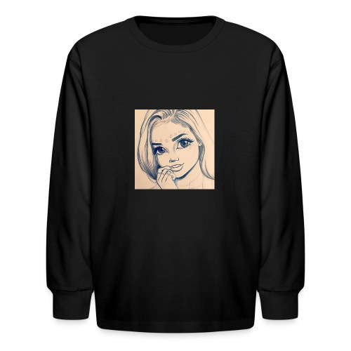 c7cae63168a24ef3c45fb8482aa467a3 drawing girls - Kids' Long Sleeve T-Shirt