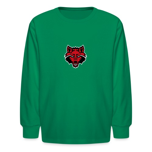 Red Wolf - Kids' Long Sleeve T-Shirt