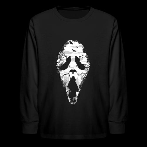 Reaper Screams | Scary Halloween - Kids' Long Sleeve T-Shirt
