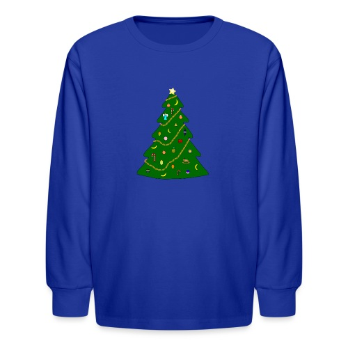 Christmas Tree For Monkey - Kids' Long Sleeve T-Shirt