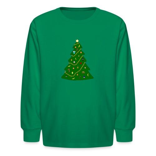 Christmas Tree For Monkey - Kids' Long Sleeve T-Shirt