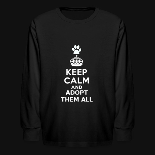KEEP CALM2 white - Kids' Long Sleeve T-Shirt