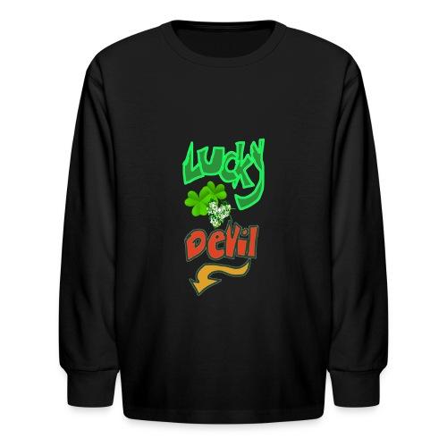 Lucky devil - Kids' Long Sleeve T-Shirt