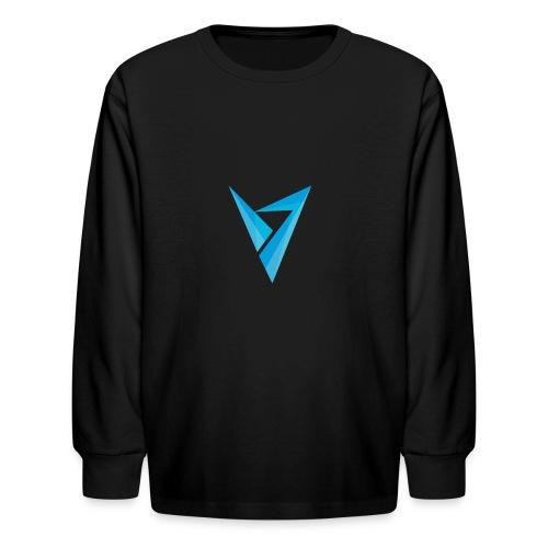 v logo - Kids' Long Sleeve T-Shirt