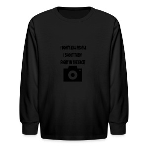 right in the face - Kids' Long Sleeve T-Shirt