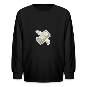 Money With Wings - Kids' Long Sleeve T-Shirt