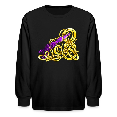 Celtic Squid - Kids' Long Sleeve T-Shirt