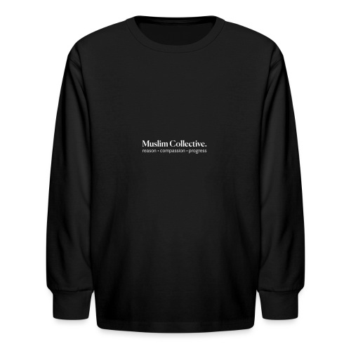 Muslim Collective Logo + tagline - Kids' Long Sleeve T-Shirt