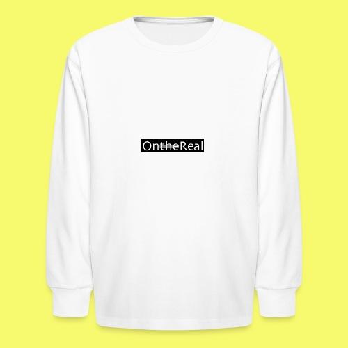 OntheReal coal - Kids' Long Sleeve T-Shirt