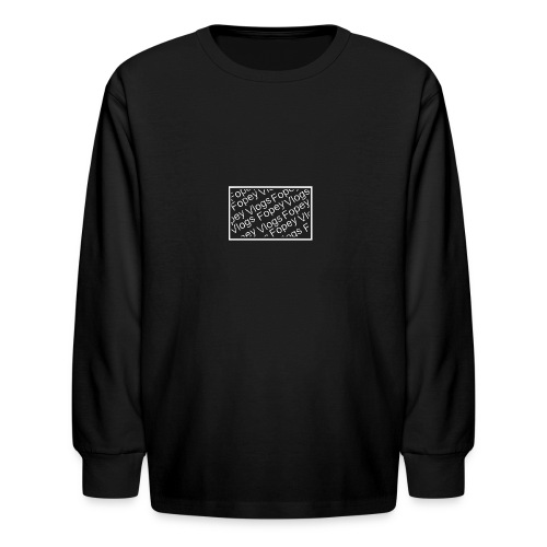 This is a Fopey Vlogs constant text logo - Kids' Long Sleeve T-Shirt