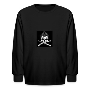 Greaser skull - Kids' Long Sleeve T-Shirt