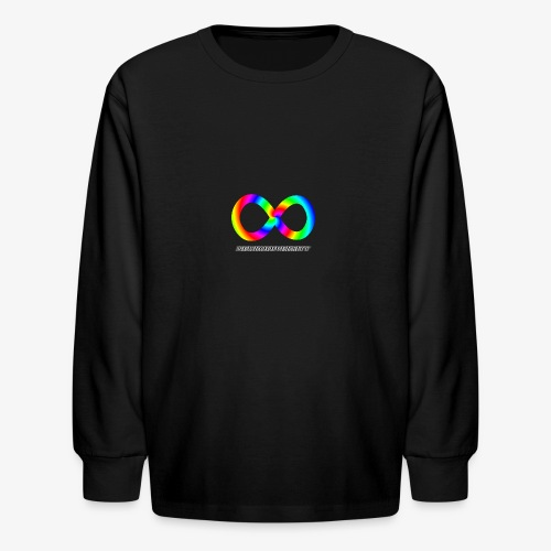Neurodiversity with Rainbow swirl - Kids' Long Sleeve T-Shirt