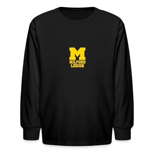 Milford-Legion Logo - Kids' Long Sleeve T-Shirt