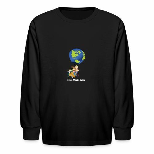 Logo École Marie-Reine texte blanc - T-shirt manches longues pour enfants