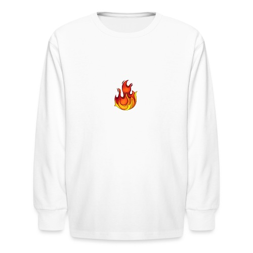 Scorchy White Logo - Kids' Long Sleeve T-Shirt