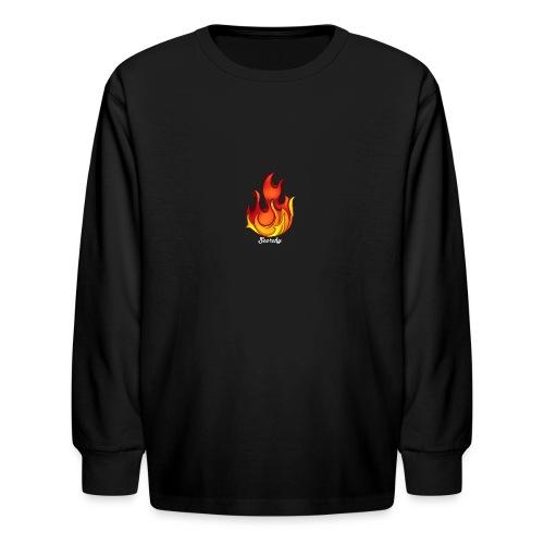 Scorchy White Logo - Kids' Long Sleeve T-Shirt