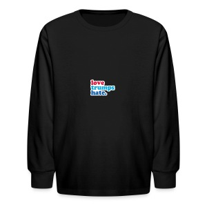 Love Trumps Hate - Kids' Long Sleeve T-Shirt