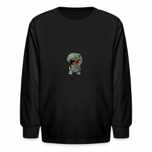 Zombie memeosauraus - Kids' Long Sleeve T-Shirt