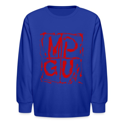 MPGU RED STROKE - Kids' Long Sleeve T-Shirt