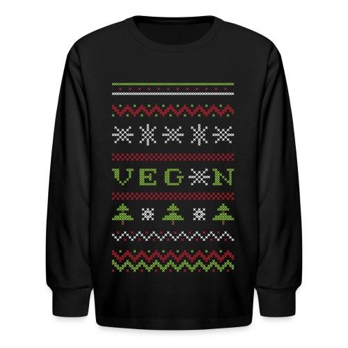 Veg*n Ugly Sweater Women's Wideneck Sweatshirt - Kids' Long Sleeve T-Shirt