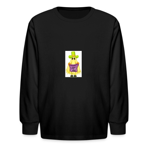 Little ghost going trick or treating - Kids' Long Sleeve T-Shirt