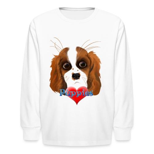 Puppy Love - Kids' Long Sleeve T-Shirt