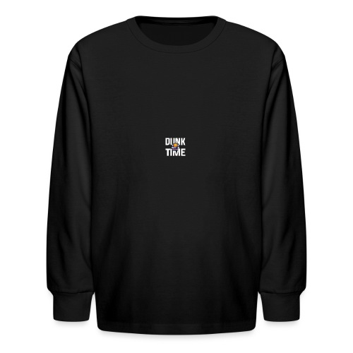 DUNKTIME Simple Logo - Kids' Long Sleeve T-Shirt