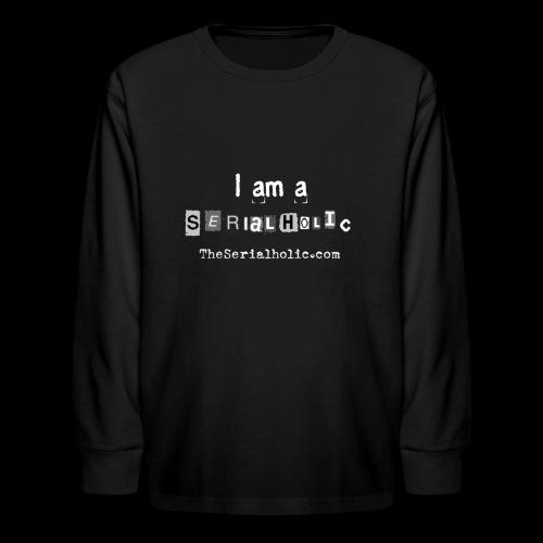 White Serialholic Logo - Kids' Long Sleeve T-Shirt
