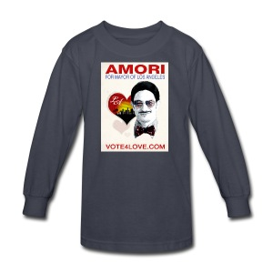 Amori for Mayor of Los Angeles eco friendly shirt - Kids' Long Sleeve T-Shirt