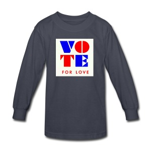 vote4love-sample - Kids' Long Sleeve T-Shirt