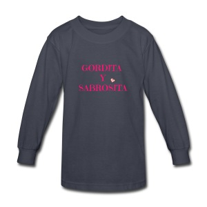 GORDITA Y SABROSITA - Kids' Long Sleeve T-Shirt