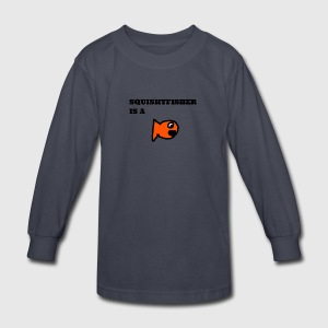 Squishyfisher is a fish! - Kids' Long Sleeve T-Shirt