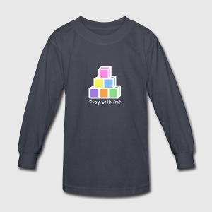 Play With Me (version white) - Kids' Long Sleeve T-Shirt