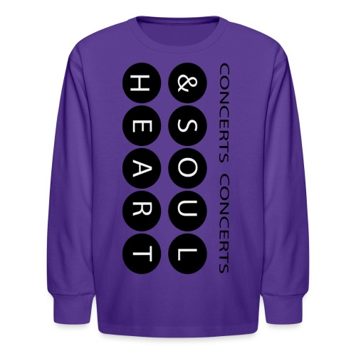 Heart & Soul concerts text design 2021 flip - Kids' Long Sleeve T-Shirt