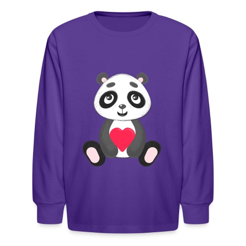 Sweetheart Panda - Kids' Long Sleeve T-Shirt