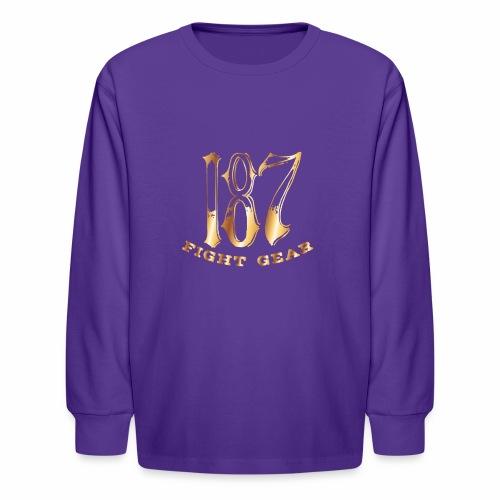 187 Fight Gear Gold Logo Street Wear - Kids' Long Sleeve T-Shirt