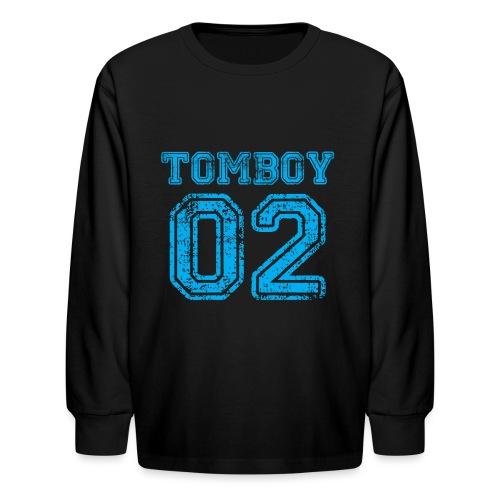 Tomboy02 png - Kids' Long Sleeve T-Shirt