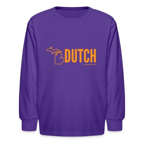 Michigan Dutch (orange) - Kids' Long Sleeve T-Shirt