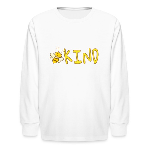 Be Kind - Adorable bumble bee kind design - Kids' Long Sleeve T-Shirt