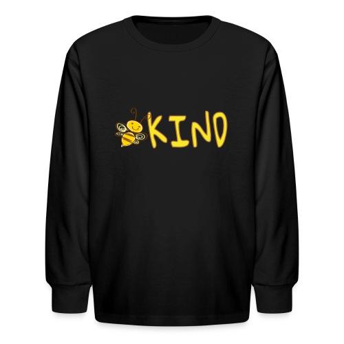 Be Kind - Adorable bumble bee kind design - Kids' Long Sleeve T-Shirt