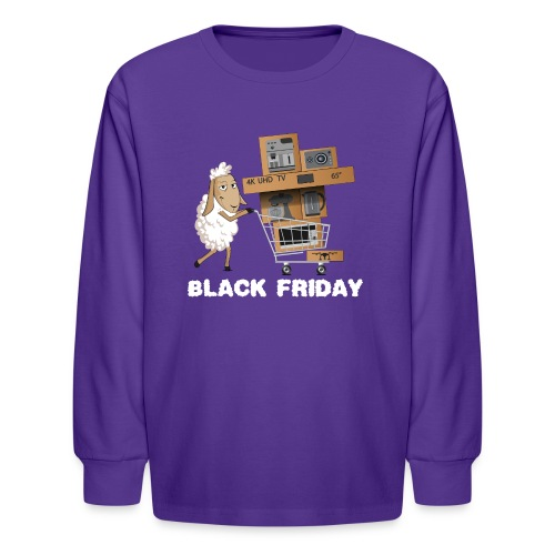 Black Friday or The day of Panurge's Sheeps - Kids' Long Sleeve T-Shirt