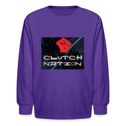 clutchnation logo merch - Kids' Long Sleeve T-Shirt