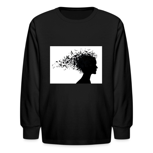 music through my head - Kids' Long Sleeve T-Shirt